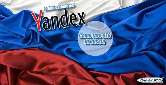 Fare SEO in Russia su Yandex