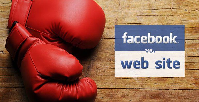 Confronto tra Pagina Facebook e Sito Web
